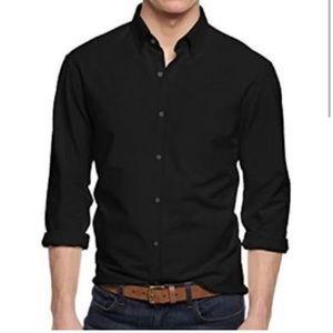 Bergamo New York fitted black shirt